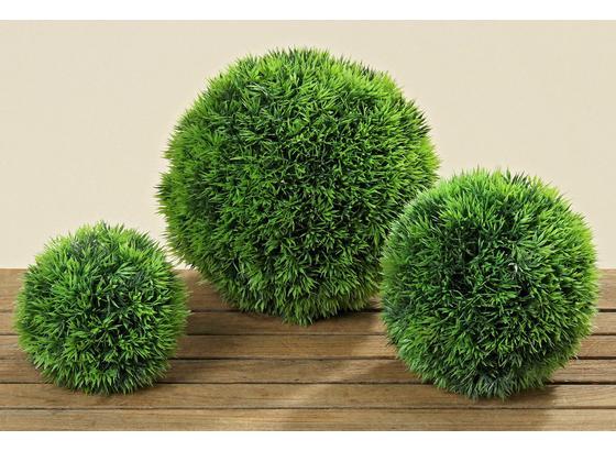 Trávová Guľa 18 Cm - zelená, Konvenčný, plast (18cm) - Ambia Home