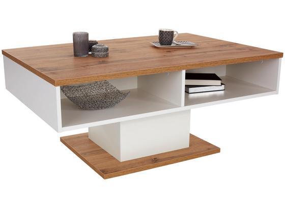Konferenčný Stolík Ibiza - farby dubu/biela, Moderný, kompozitné drevo (115/47/65cm)