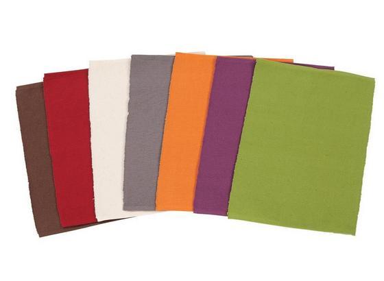 Tischset Maren - Anthrazit/Lila, KONVENTIONELL, Textil (30/40cm) - Ombra