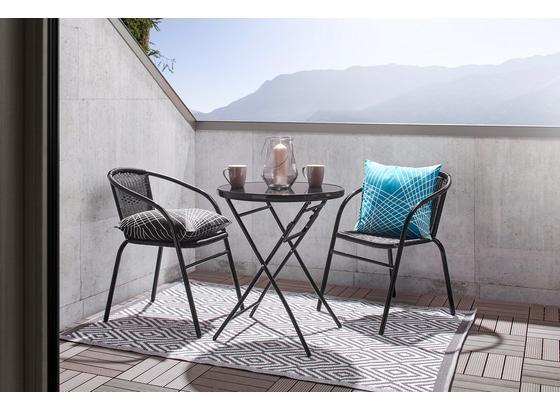 Záhradný Stôl Sam - čierna, kov/plast (60/70cm) - Mömax modern living