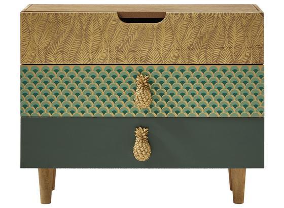 Ozdobná Komoda Alicia - prírodné farby/zlatá, kompozitné drevo (30/11,3/24,10cm) - Mömax modern living