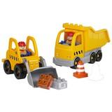 Bausteine Unico Plus Baufahrzeuge - Gelb/Orange, Kunststoff - Unico Plus