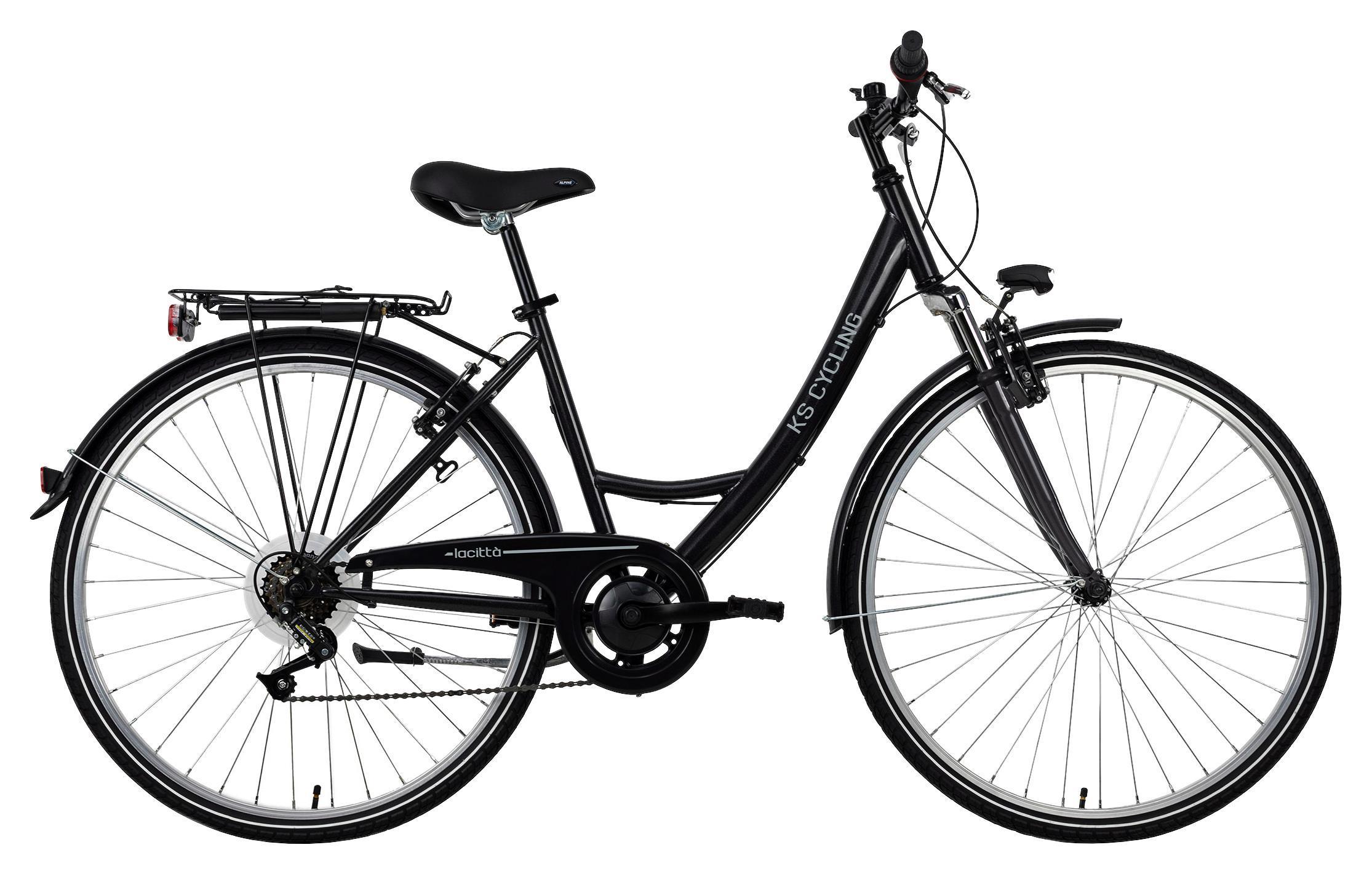 Damen Citybike La Città 317c Anthrazit 28zoll