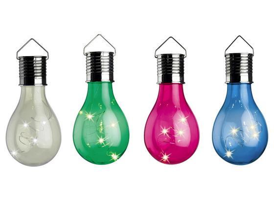 Solární Svítidlo Bici - modrá/průhledné, umělá hmota (7.5/15cm) - Modern Living