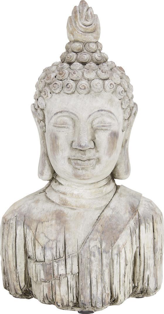 Hlava Budhy Buddha - hnedá, Konvenčný, kameň (21,5/13/37cm) - Mömax modern living