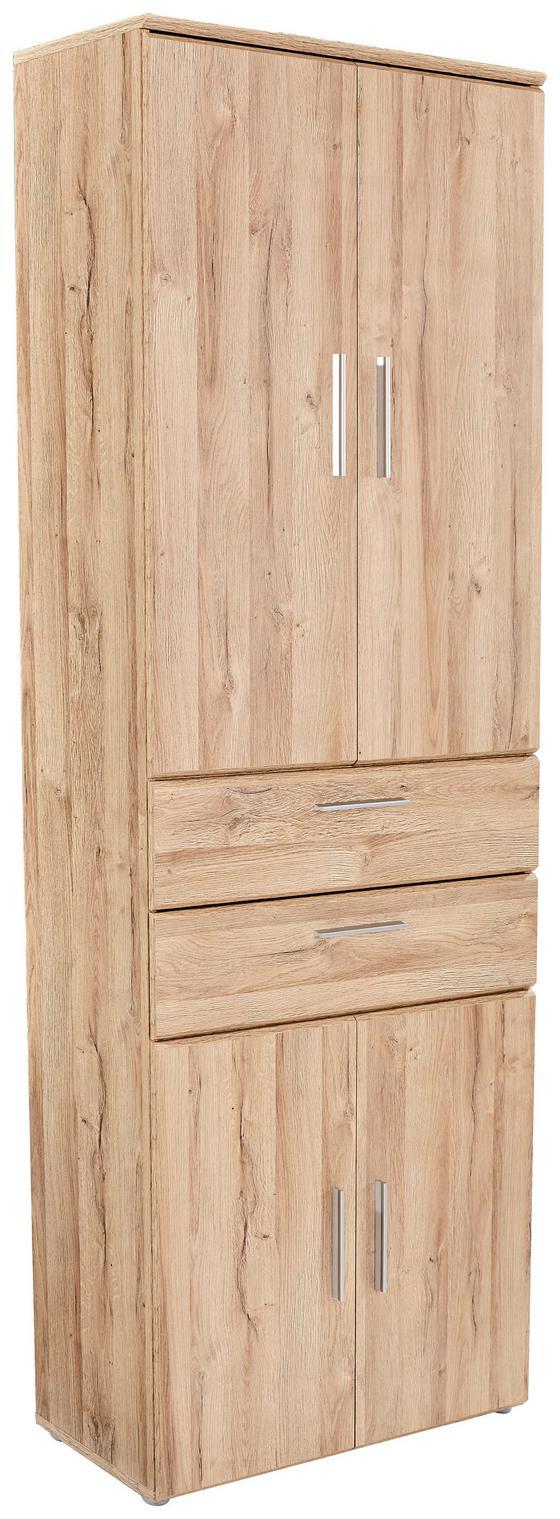 Aktenschrank Mindi - Eichefarben, MODERN, Holzwerkstoff/Kunststoff (80,5/219,9/34,1cm)