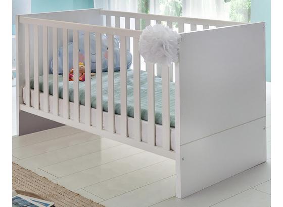 Dětská Postýlka Billund - bílá, Moderní, dřevo/kompozitní dřevo (76/78/146cm) - Modern Living