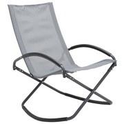 Gartensessel Klappbar Vagos Stahl, Textilene - Anthrazit, MODERN, Textil/Metall (68/99/91cm) - Ombra