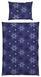 Bettwäsche Snowflake - Dunkelblau, KONVENTIONELL, Textil - Ombra