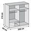 Schwebetürenschrank Level 36a 200cm Weiß - Weiß, MODERN, Holzwerkstoff (200/216/65cm)