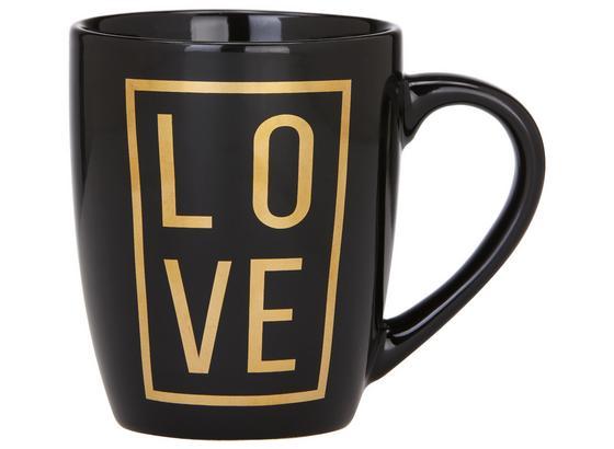 Hrnek Na Kávu Love - černá/barvy zlata, Moderní, keramika (8,5/10,5cm) - Mömax modern living