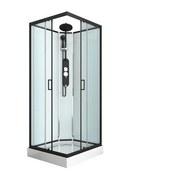 Duschkabine Epic 2 - Schwarz, MODERN, Glas/Metall (90/90/235cm) - Sanotechnik