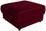 Hocker Giovanni - Beige/Rot, MODERN, Holz/Textil (75/43/83cm) - Ombra