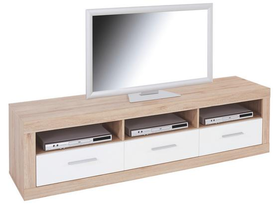 Tv Diel Malta - farby dubu/biela, Moderný, drevo (185/50/42cm)