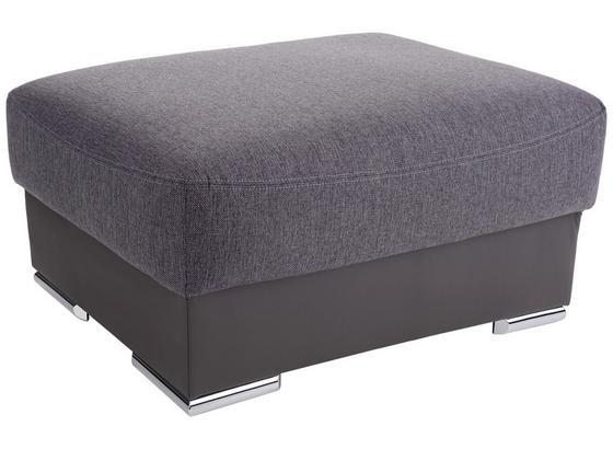 Taburet Cuba - šedá/tmavě šedá, Moderní, textil (100/45cm) - Luca Bessoni