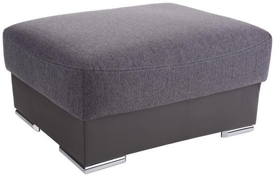 Taburet Cuba - šedá/tmavě šedá, Moderní, textilie (100/45/65cm) - Luca Bessoni