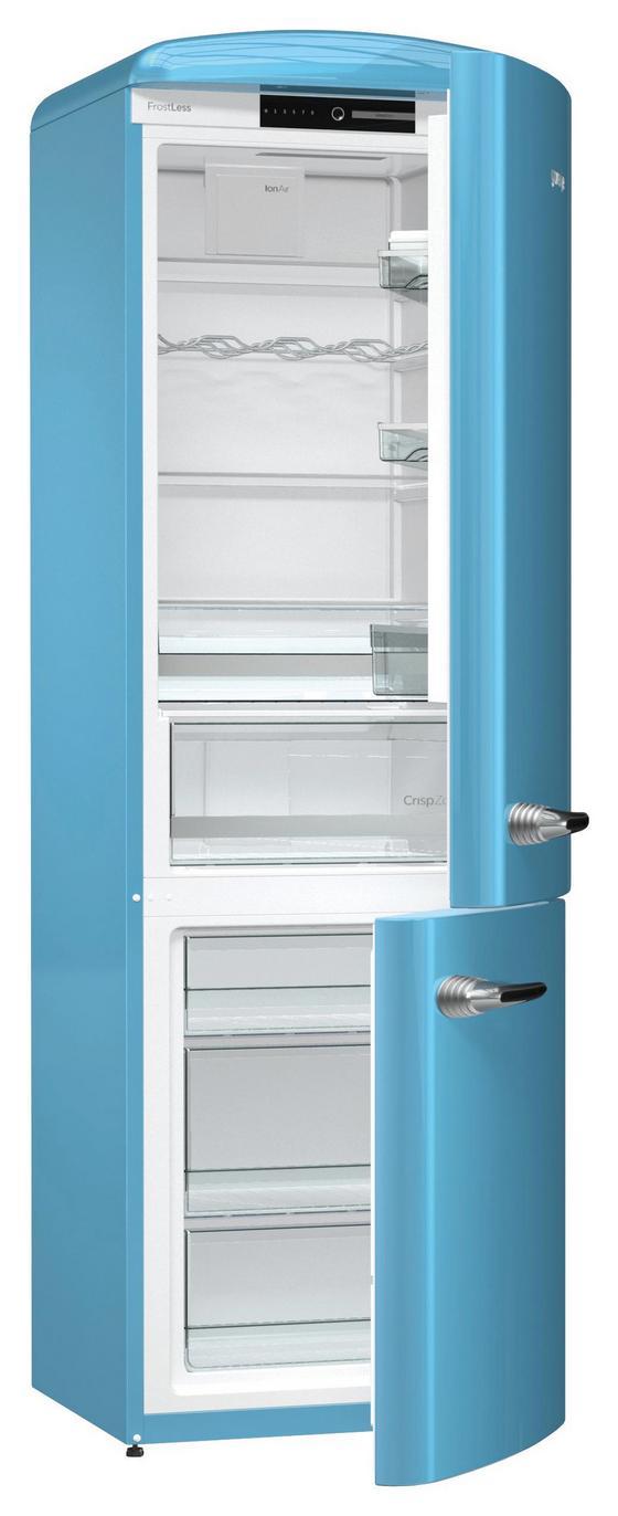 Gorenje Kühl-gefrier- Kombination Ork192bl - Blau, KONVENTIONELL, Kunststoff (60/194/66,9cm) - Gorenje