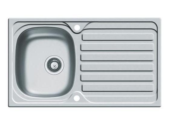 Spüle Edelstahl Glatt - Edelstahlfarben, Design, Metall (79/50cm) - HKT