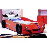 Autobett Superdrift Rot 90x200 cm - Rot, Basics, Holz/Holzwerkstoff (90/200cm)