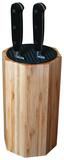 Messerblock Bamboo mit Messer - Silberfarben/Schwarz, MODERN, Holz (18/40,5/13,5cm) - Berndorf