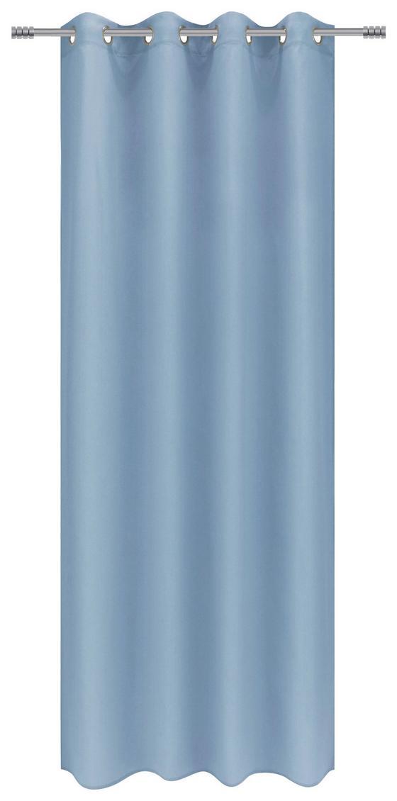 Ösenvorhang Anja - Blau, MODERN, Textil (140/245cm) - Luca Bessoni