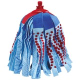 Ersatzmopp Ersatzkopf Mocio - Blau/Rot, KONVENTIONELL, Textil (7.2/34/15cm) - Vileda