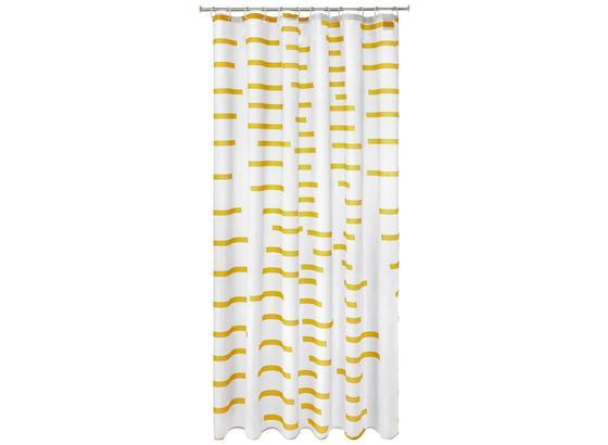 Záves Do Sprchovacieho Kúta Ellie - žltá/biela, textil (180/200cm) - Mömax modern living