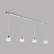 LED-hängeleuchte Pancento - Chromfarben/Klar, MODERN, Kunststoff/Metall (101/7/110cm)