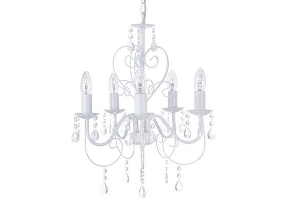 Závesná Lampa Crisi - biela, Romantický / Vidiecky, kov/plast (44/150cm) - Mömax modern living