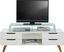 Stolek Na Elektroniku Durham - bílá/barvy dubu, Moderní, dřevo/kompozitní dřevo (150/47,5/45cm) - Mömax modern living