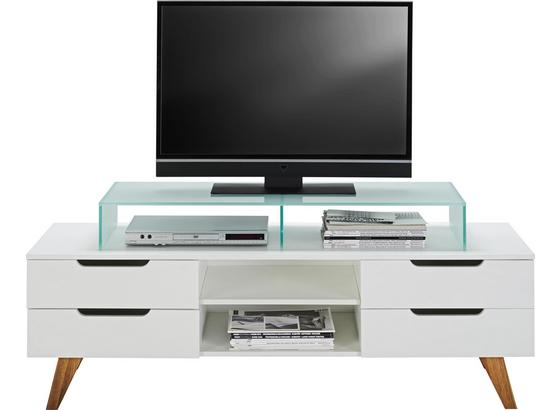 Tv Stolík Durham - farby dubu/biela, Moderný, drevo/kompozitné drevo (150/47,5/45cm) - Mömax modern living