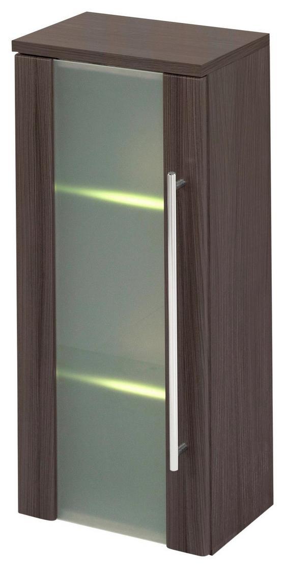 Hängeschrank Mailand 30 cm Eiche Dekor - Eichefarben, MODERN, Glas/Holzwerkstoff (30/66/20cm)