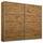 Schwebetürenschrank Belluno B:226cm Wotan Eiche Dekor - Eichefarben, MODERN, Holzwerkstoff (226/210/62cm)
