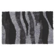 Hochflorteppich Carina - Schwarz, KONVENTIONELL, Textil (100/160cm) - LUCA BESSONI