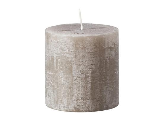 Svíčka Ruth   - Rustik -top- - šedá/starorůžová, Romantický / Rustikální (10/10cm) - Mömax modern living