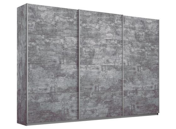 Schwebetürenschrank Belluno B:271cm Stone Grey Dekor - Grau, MODERN, Holzwerkstoff (271/210/62cm)