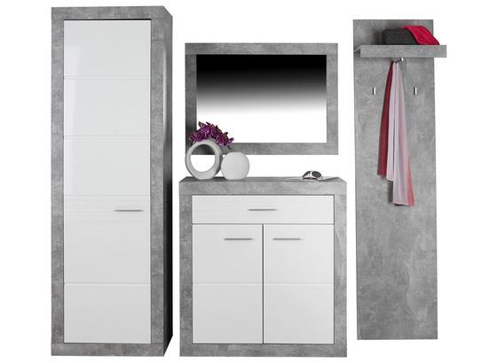 Odporúčaná Kombinácia Skrine Malta - Beton 1 - biela/svetlosivá, Moderný, kompozitné drevo (210/197/36cm)