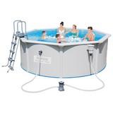 Bestway Stahlwandpool Hydrium Set 56571 - Blau/Weiß, Kunststoff/Metall (360/120cm) - BESTWAY