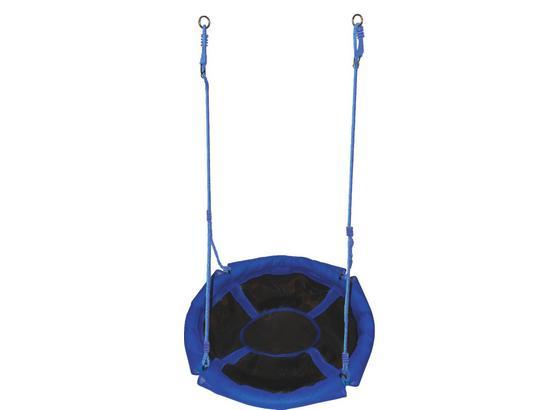 Nestschaukel DM 90 cm - Blau/Schwarz, MODERN, Kunststoff (90cm)