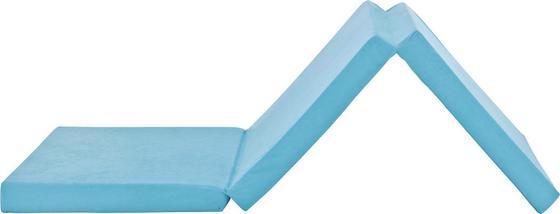 Faltmatratze Basic - Hellblau, KONVENTIONELL, Textil (189/65/8cm)