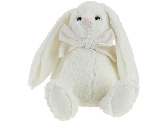 Zvířátko Plyšové Bunny -ext- - bílá/modrá, textil (28cm) - Mömax modern living