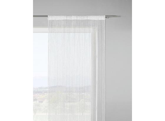 Provázková Záclona Lurex - bílá/barvy stříbra, Lifestyle, textil (90/245cm) - Mömax modern living