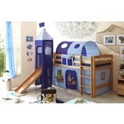 Spielbett Toby R 90x200 cm Blau - Blau/Naturfarben, Natur, Holz (90/200cm) - Carryhome