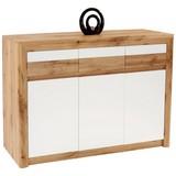 Sideboard Kashmir - Eichefarben/Schwarz, KONVENTIONELL, Holzwerkstoff (142/89/41cm) - JAMES WOOD