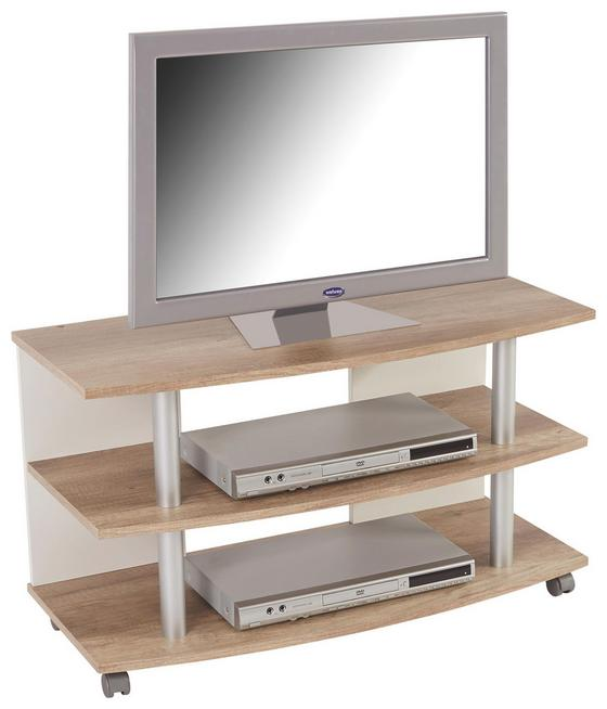 Tv Stolík Dick - farby dubu/biela, Moderný, drevený materiál (90/51.3/40cm)
