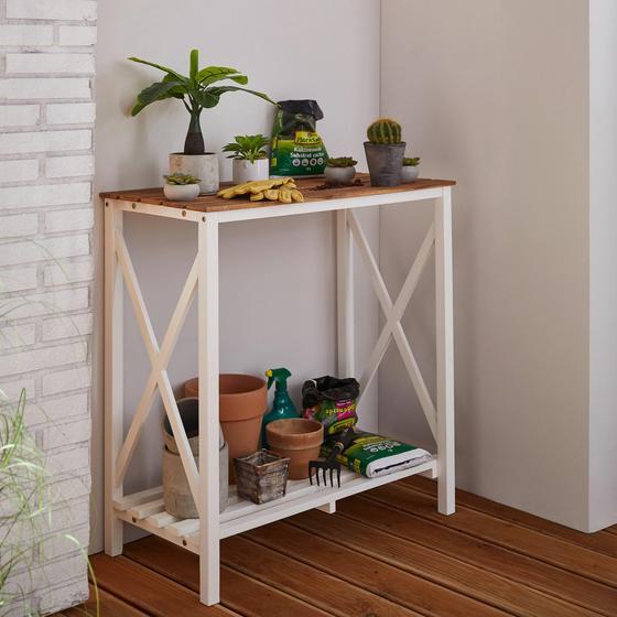 Záhradný Regál Anna - hnedá/biela, drevo (90/95/45cm) - Mömax modern living