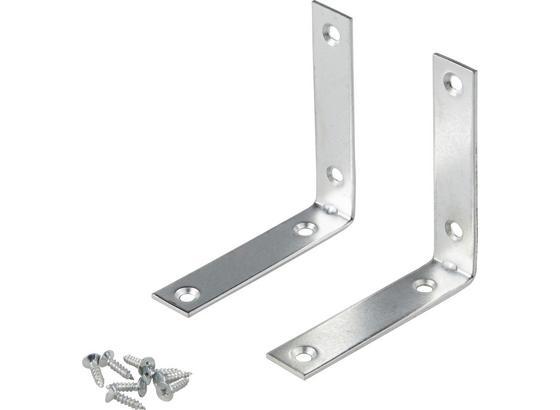 Möbelwinkel 10 / 10 cm - 2 Stk./Pkg. - Silberfarben, KONVENTIONELL, Metall (10/19/10cm)
