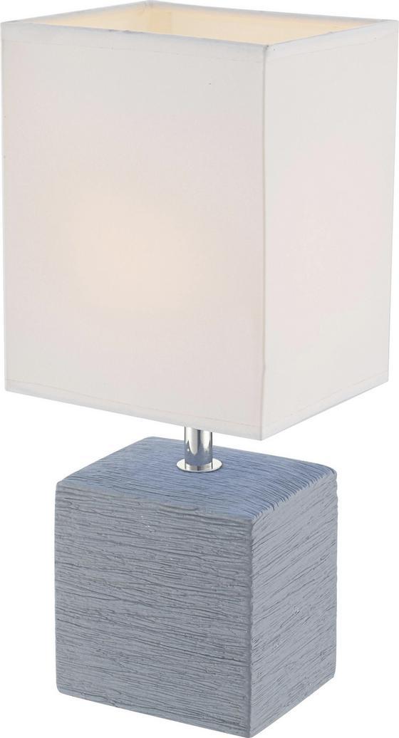 Tischleuchte Geri - Weiß/Grau, KONVENTIONELL, Keramik/Textil (13/11/29cm) - James Wood