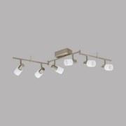 LED-Spotleuchte Taberno - Weiß/Nickelfarben, MODERN, Glas/Metall (9/105cm)