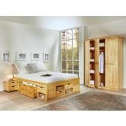 Stauraumbett Claas 160x200 Kiefer Massiv - Naturfarben, Basics, Holz (160/200cm) - MID.YOU